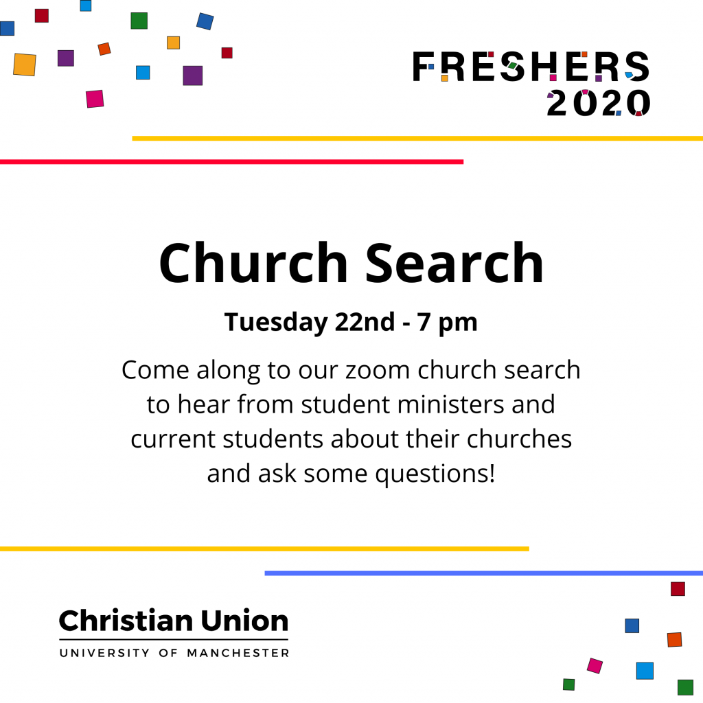 Freshers 2020 Church Search