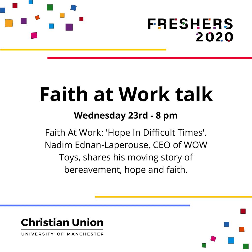 Faith at Work talk