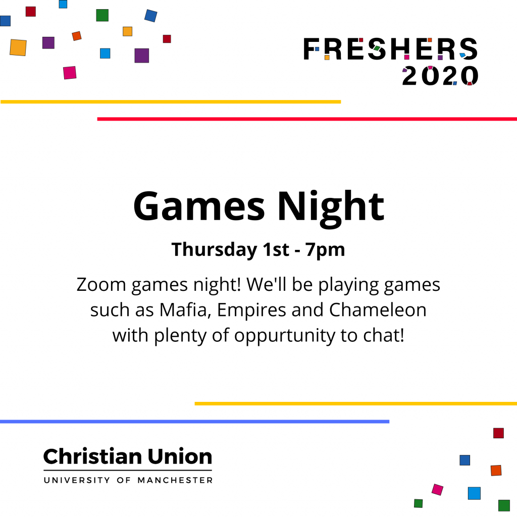Freshers 2020 Games Night