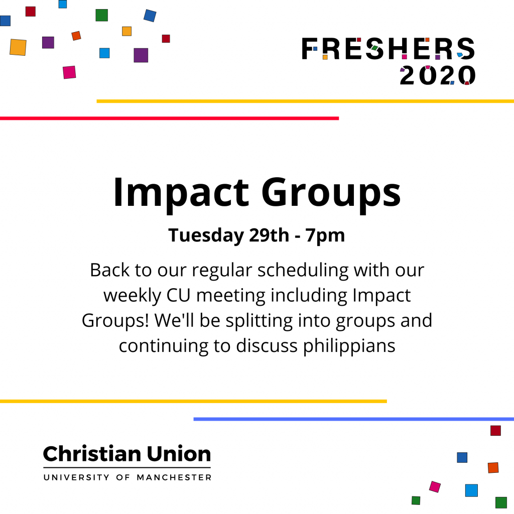 Freshers 2020 Impact Groups