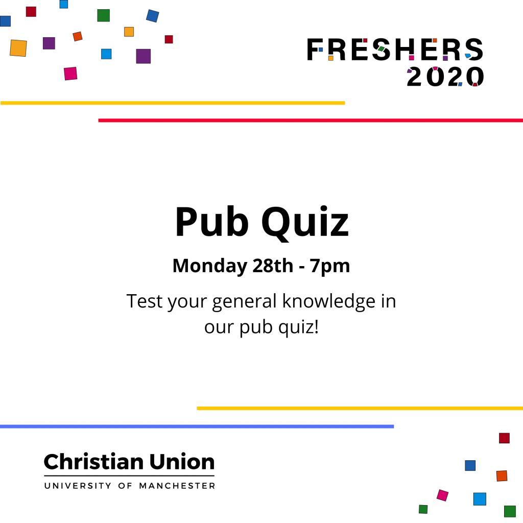 Freshers 2020 Pub Quiz