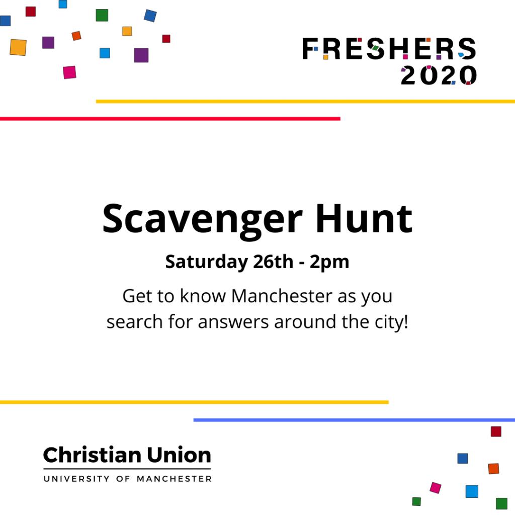 Freshers 2020 Scavenger Hunt